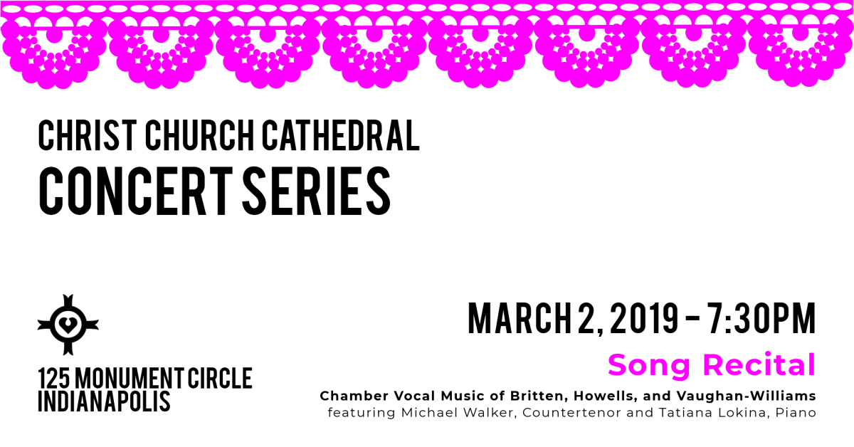British Song Recital: Across the Pond - Christ Church Cathedral